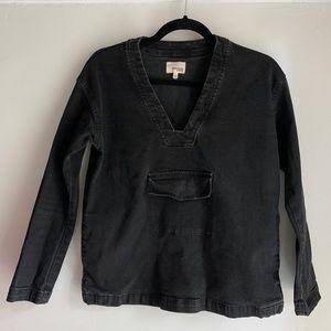 Aritzia Wilfred Free Pullover Jean Jacket